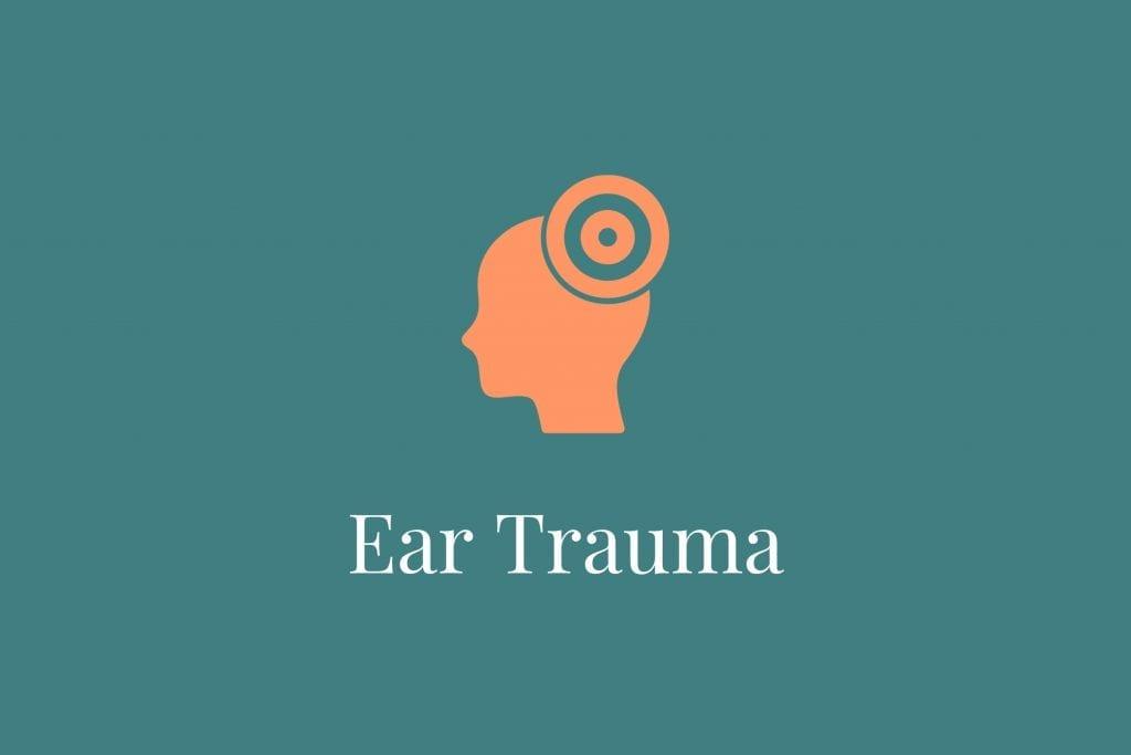 Sore ear from trauma